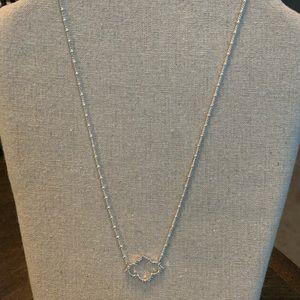Stella & Dot Arabesque Silver Necklace